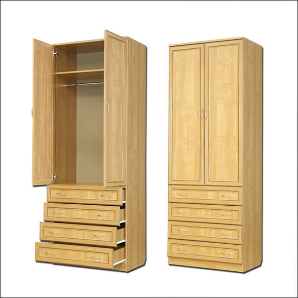 Шкаф со штангой и ящиками.